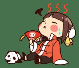 China Girl & Miniature panda sticker #8190175
