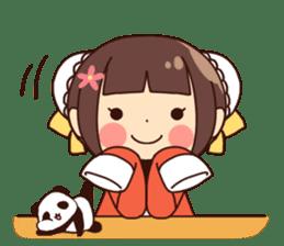 China Girl & Miniature panda sticker #8190176