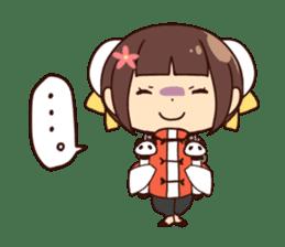 China Girl & Miniature panda sticker #8190177