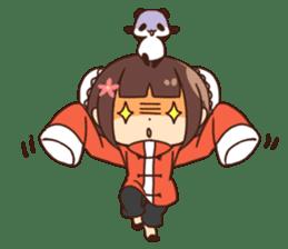 China Girl & Miniature panda sticker #8190178