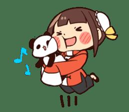 China Girl & Miniature panda sticker #8190181