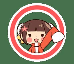 China Girl & Miniature panda sticker #8190185
