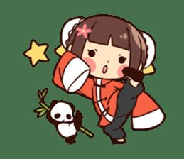 China Girl & Miniature panda sticker #8190186