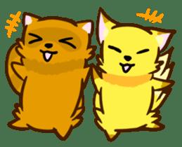 Fox and Raccoon dog 2 sticker #8191304