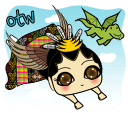 Cute Garuda Nusantara Fairy sticker #8192305