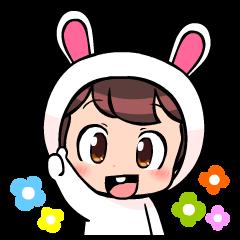 Lovely rabbit boy