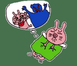 Funny rabbit ''Usatan'' sticker #8209837