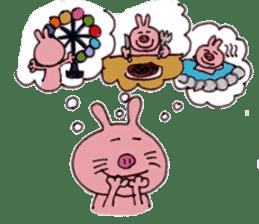 Funny rabbit ''Usatan'' sticker #8209850