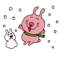 Funny rabbit ''Usatan'' sticker #8209854