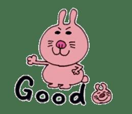 Funny rabbit ''Usatan'' sticker #8209855