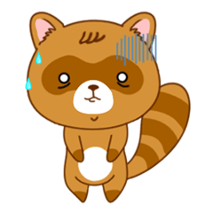 Raccoon with 40 emotion or pattern