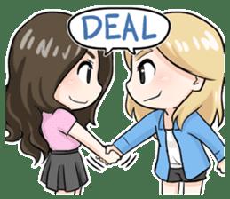 Paper & Pinky The Best Friend sticker #8215673