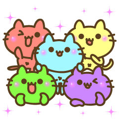 5 colors cat