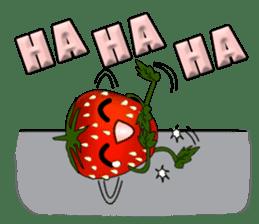 Q strawberry sticker #8236092