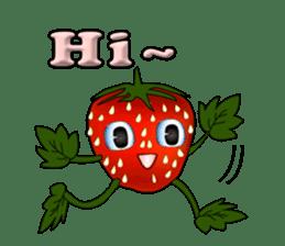 Q strawberry sticker #8236097