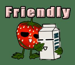 Q strawberry sticker #8236098