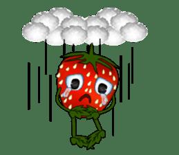 Q strawberry sticker #8236100