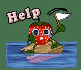Q strawberry sticker #8236101