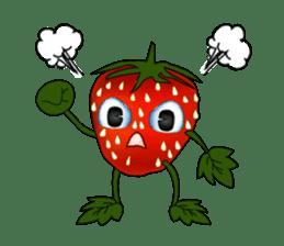 Q strawberry sticker #8236102