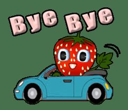 Q strawberry sticker #8236104