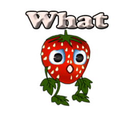 Q strawberry sticker #8236109