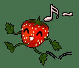 Q strawberry sticker #8236110