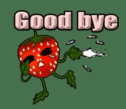 Q strawberry sticker #8236113