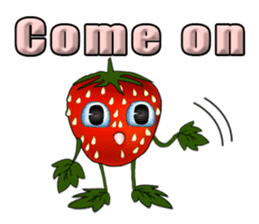Q strawberry sticker #8236116