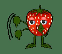 Q strawberry sticker #8236118