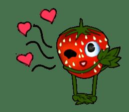 Q strawberry sticker #8236119