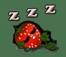 Q strawberry sticker #8236122