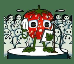 Q strawberry sticker #8236123