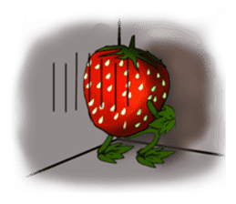 Q strawberry sticker #8236126