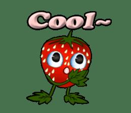 Q strawberry sticker #8236127
