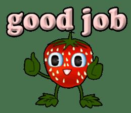 Q strawberry sticker #8236128