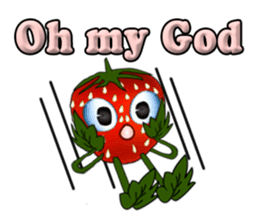 Q strawberry sticker #8236129