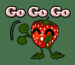 Q strawberry sticker #8236131
