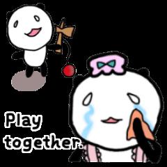 A Pensive Panda Family (English ver.)