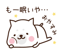 Beware of the dog, Haku's ordinary days. sticker #8242759