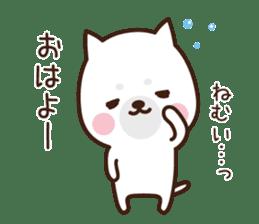 Beware of the dog, Haku's ordinary days. sticker #8242760