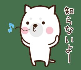 Beware of the dog, Haku's ordinary days. sticker #8242790