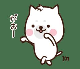 Beware of the dog, Haku's ordinary days. sticker #8242791