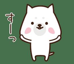 Beware of the dog, Haku's ordinary days. sticker #8242792