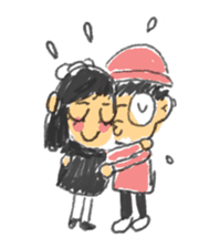 Long Distance Cute Power Couple sticker #8243813