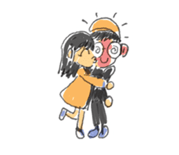 Long Distance Cute Power Couple sticker #8243821