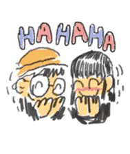 Long Distance Cute Power Couple sticker #8243823