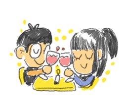 Long Distance Cute Power Couple sticker #8243824