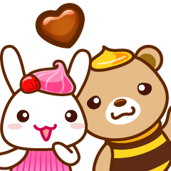 Honey Bear and sweety Rabbit
