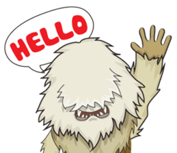 Yeti On The Way sticker #8262849