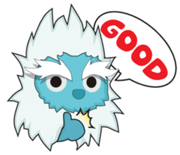 Yeti On The Way sticker #8262853
